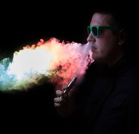 colored vape smoke
